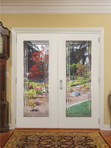 Feather river door fiberglass patio doors smooth white for Fiberglass french patio doors