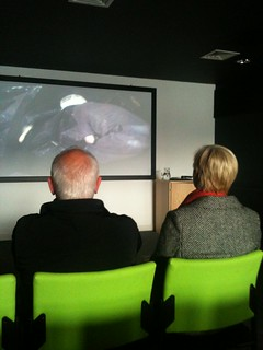 Visitors enjoyed archive film footage of Tyne and Wear at Northern Film and Media