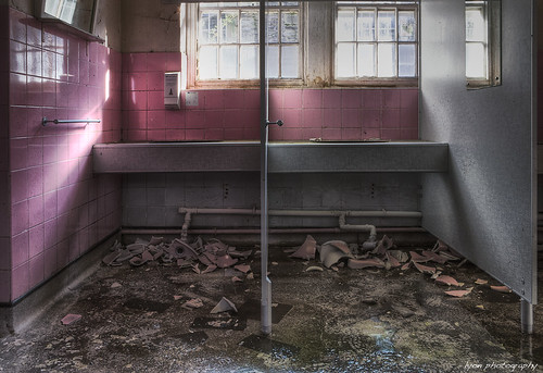 There was no plug, but then there was no sink either - Talgarth Mental Asylum