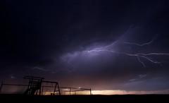 Photograph: Lightning over playground
