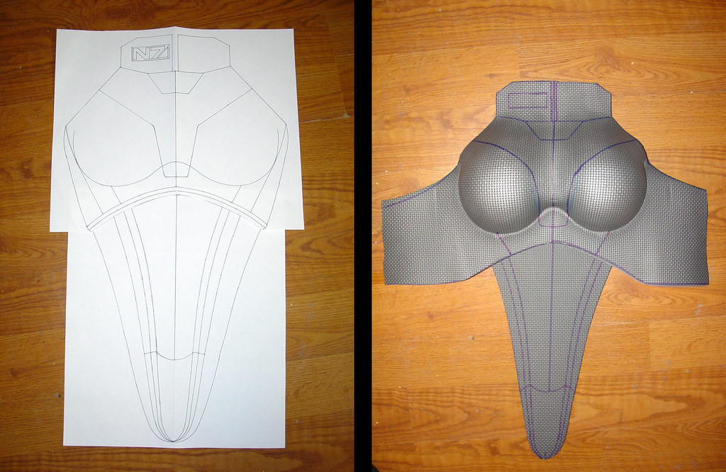 Mass effect n7 armor build evil fx for Mass effect 3 n7 armor template