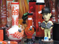 Tim Lincecum bobblehead with bongs