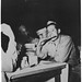 Soldier eating matzo, circa 1945 by Center for Jewish History, NYC