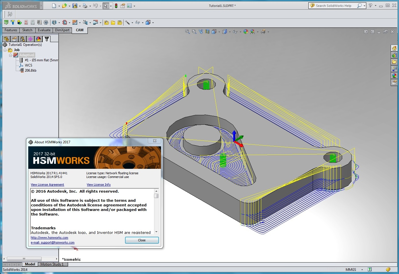 Machining with Autodesk HSMWorks 2017 R1.41441 for SolidWorks 2010-2017 full crack