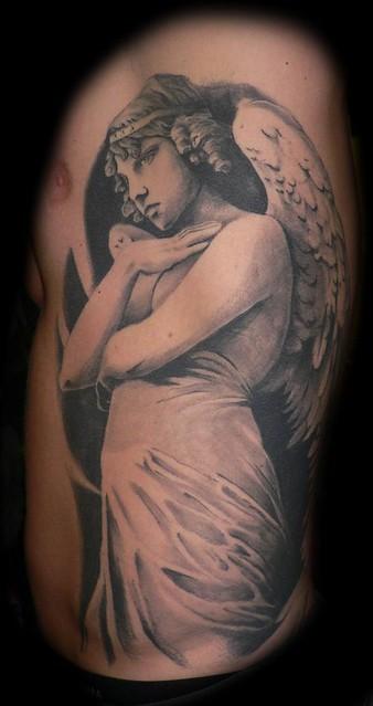 Angel Statue Tattoo