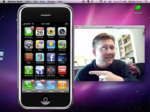 Videoconference Demo Today with my iPhone