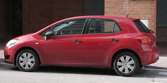 automobile, automotive exterior, family car, vehicle, toyota auris, land vehicle, hatchback,