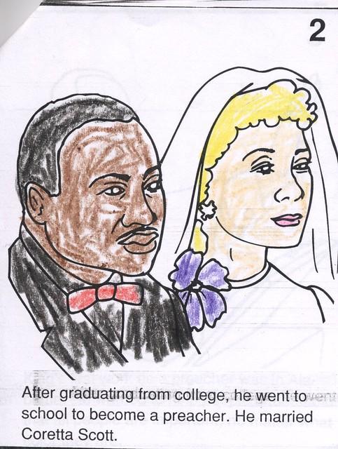coretta scott coloring pages - photo#16