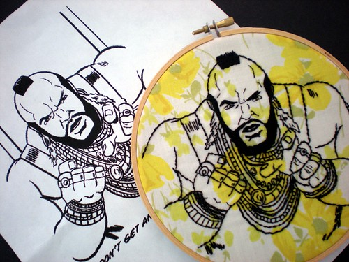 Mr. T aka  B.A. Baracus Embroidery