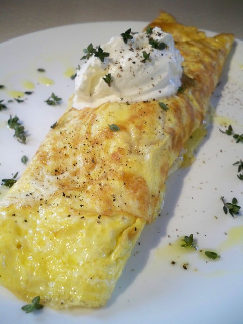 French Omelette | Canadian bacon, cheddar and thyme. | By: Specs ...