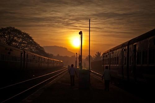 india nature sunrise tracks rail railway karnataka tumkur uttarkarnataka yflickrfun