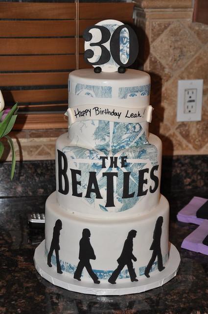 Beatles Themed Wedding Cake