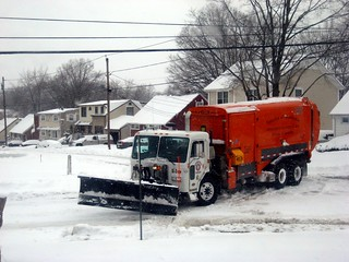 snow plow garbage truck