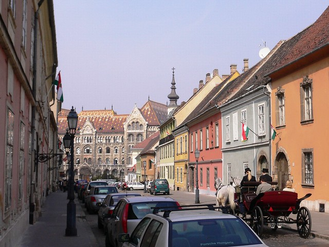 Budapest Old Town Street Scene Hungary Flickr Photo