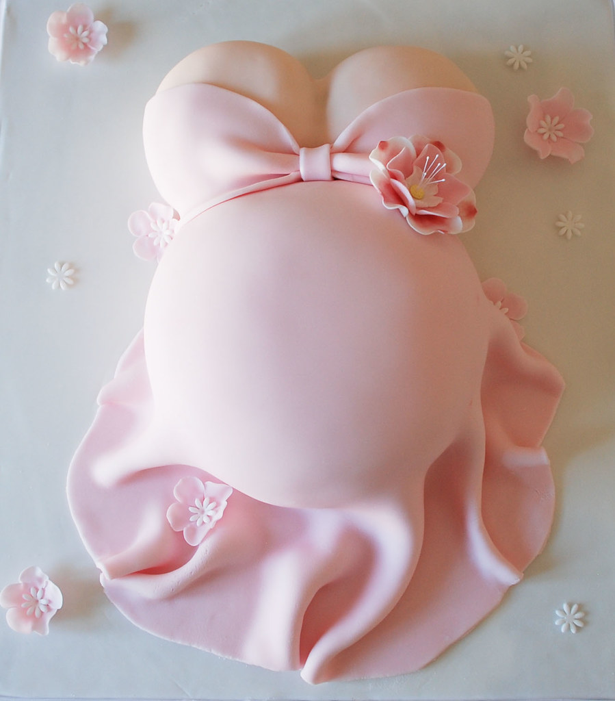 baby shower belly cake - a photo on Flickriver