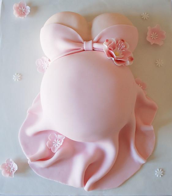 Baby Shower Belly Cakes Baby shower belly cake