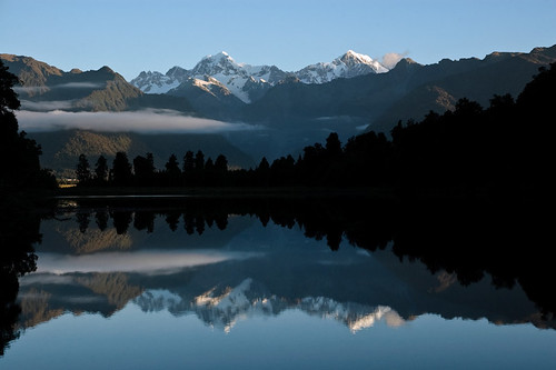 Lake Matheson, Fox, New Zealand