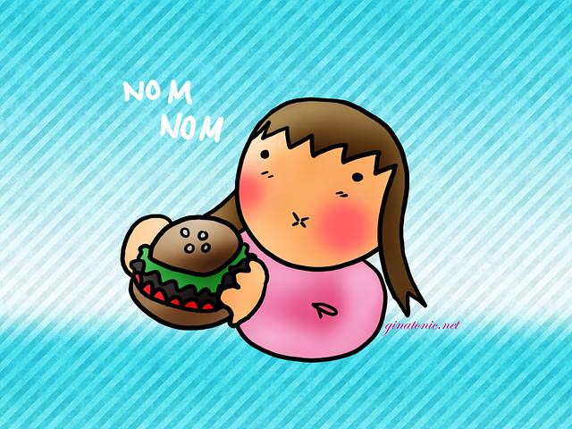 comer gorda comida felicidad