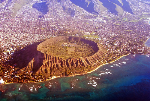 Postcard view of Diamond Head, Hawaii