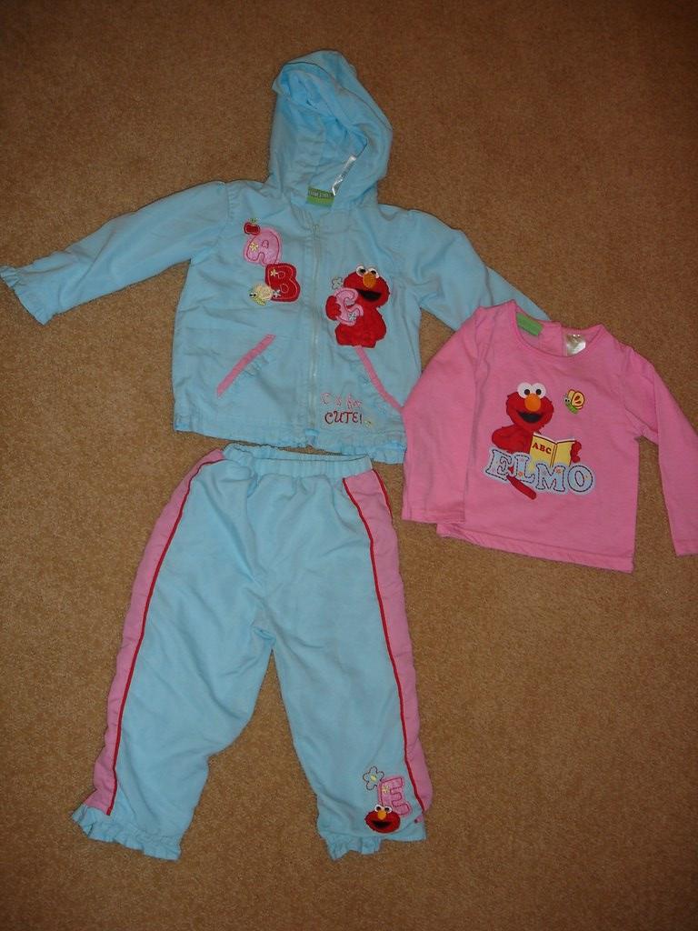 G83 - EUC Sesame Street Elmo 3pc outfit (24 mo) - $3 | Flickr