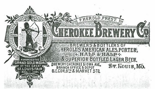 1888 Cherokee Brewery Co   St. Louis by carlylehold