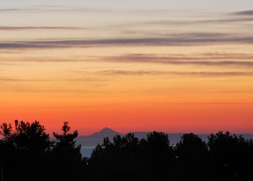 sky mountain clouds sunrise colours aegean olympus greece athos pieria litohoro litochoro