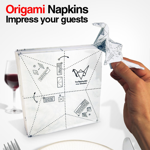 Paper Bird Of Paradise 1 Photos | Product Photography - Origami Napkins | 666
