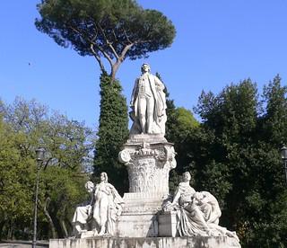 Rome - Statue of Johann Wolfgang von Goethe at Villa Borghese