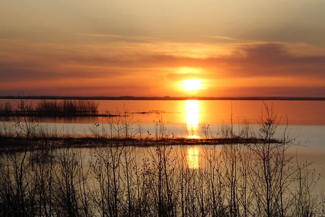 Sunset, Lake Sakakawea