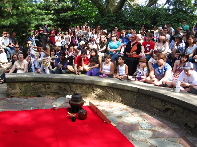 Audience awaits the tea ceremony in the Alfred T. White Memorial during Sakura Matsuri 2010. Photo by Rebecca Bullene.
