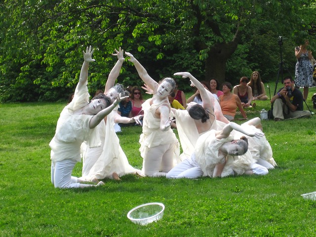 Dean Street FOO Dance performing a beautiful and moving Butoh dance. Photo by Rebecca Bullene.