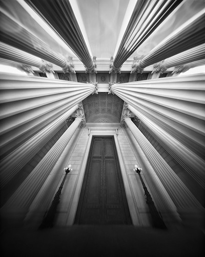 At the Great Door... (4x5 Pinhole Photograph) by integrity_of_light