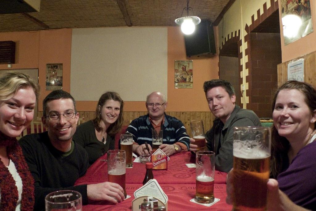 Beers in Lenka's dad's local pub