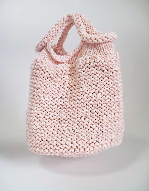Knitting Pattern Hobo Bag : HAND KNIT BAG/PINK Flickr - Photo Sharing!