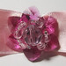 Pink-hot pink swarovski hair clip