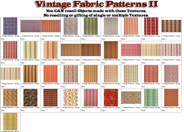 Shabby Chic Old Vintage Fabric Patterns II - calico plaid stripes  | 500 x 358 · 148 kB · jpeg