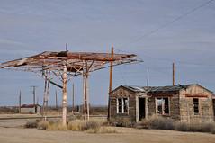 Skeletal Service Station at JCT US 285 and FM 652
