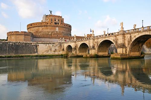 Italy-0061 - Ponte Sant'Angelo & Castel Sant'Angelo