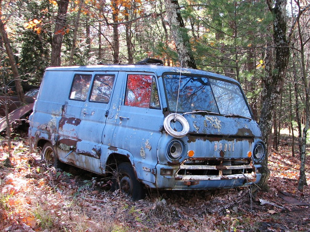 A JUNK 1969 DODGE VAN IN NOV 2010