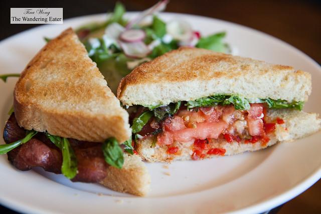 BLT (bacon, lettuce, tomato) sandwich