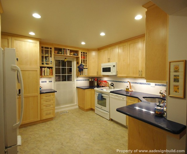 A a design build remodeling for Building kitchen cabinets in place