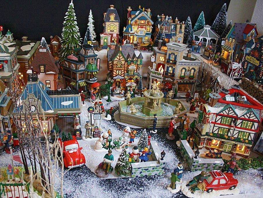 Home design image ideas miniature christmas village for Decoration maison walmart