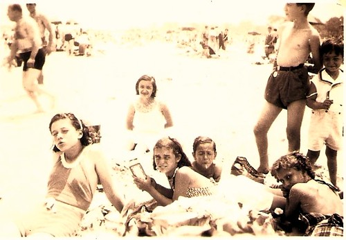 Joseph & James at the beach, c. 1935