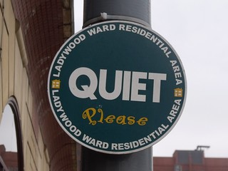 Quiet Please – Sheepcote Street – sign