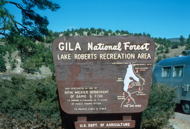 Entrance lake roberts gila forest nm 1978 flickr for New mexico game and fish login