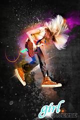 Girl Converse Design - Girl Converse Designer - Photoshop cool backgrounds