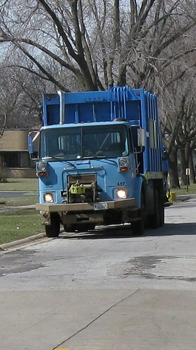 A City of Chicago Department of Streets and Sanitation Volvo recycling garbage truck. Chicago Illinois. March 2009. by Eddie from Chicago