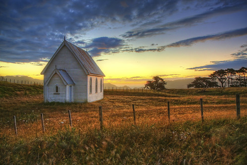 Sunset at Kohekohe Church