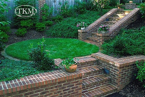 Brick Retaining Walls Steps Brick Retaining Walls