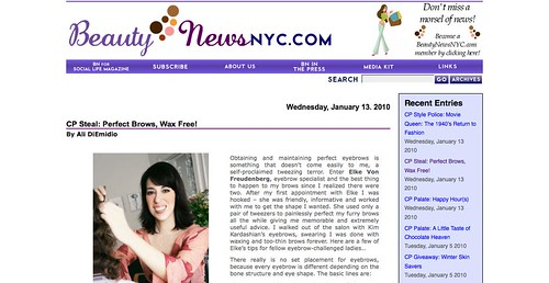 BeautyNewsnyc: Perfect Brows, Wax Free! | BeautyNewsNYC